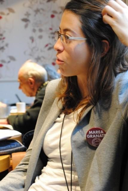 Sara Lafuente, una de las demandantes ante el Parlamento Europeo. / Beatriz Ríos